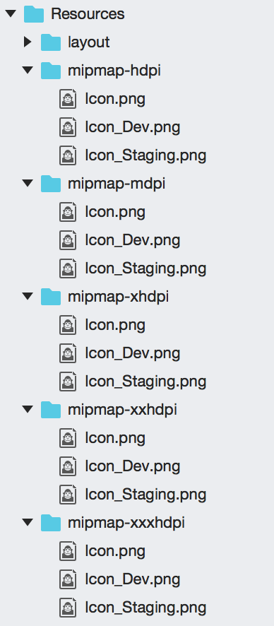Icons in resources
